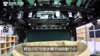 自動打ち抜き機-ブランキング(非印刷部の自動抜き落とし)