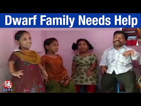 Dwarf family from Old city seek government for financial help to lead life - Hyderabad