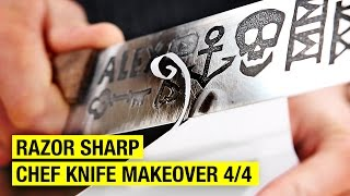 How to Sharpen a Chef Knife ! Chef Knife Makeover 4/4 by Alex French Guy Cooking