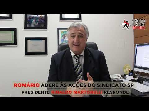 ROMÁRIO ADERE ÀS AÇÕES DO SINDICATO DE ATLETAS SP