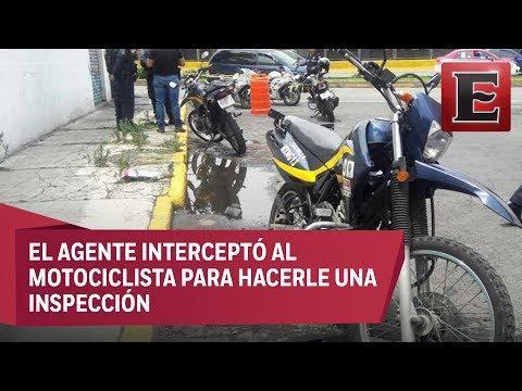 Motociclista mata a tiros a policía en calles de la GAM