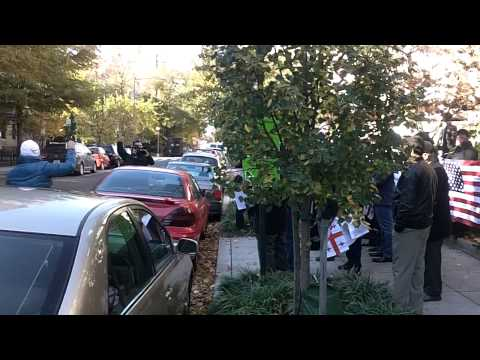 Ahiska Turk's Protest in front of Georgia Embassy, Washington DC, Nov 14, 2014 - video #1