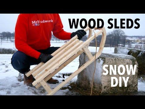 Holz Schlitten selber bauen mit 3 Dachlatten + Stichsäge + starken Willen