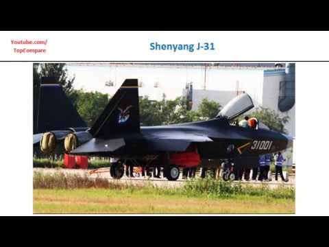 Shenyang J-31 and Sukhoi Su-35,...