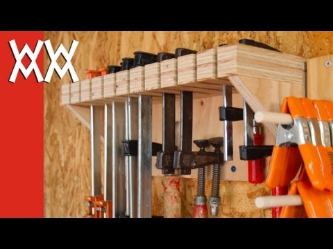 woodworking - Here are a few methods for storing clamps in your shop. Download free SketchUp and PDF plans for this project: http://www.woodworkingformeremortals.com/2013/...