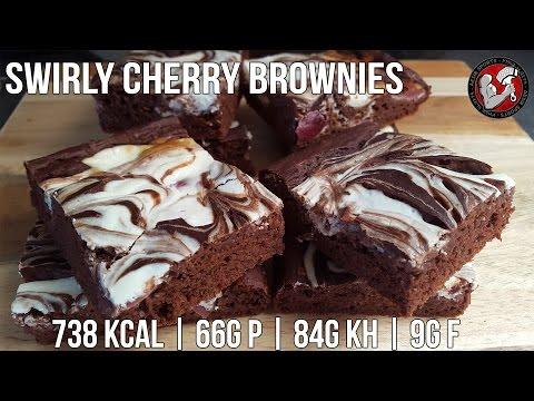 Kirsch Brownies | High Protein Brownie Rezept
