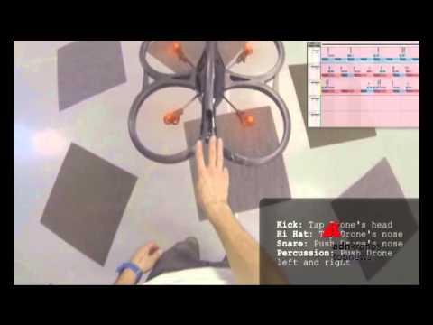 un drone musicale che suona e vola!!
