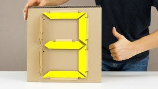 How to Make Mechanical 7 Segment Display from Cardboard