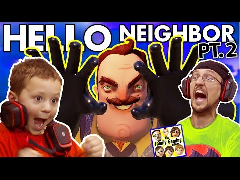 WE SCARED OUR BLIND NEIGHBOR!?  FGTEEV Scary Hello Neighbor Kids Horror Game Part 2 (Alpha 2 Update) (видео)