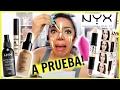 Probando Maquillaje Nyx Cosmetics Base Corrector Spray Fijador  Beautybynena