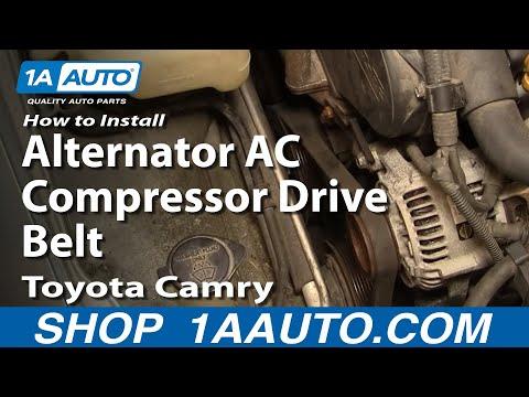 How To Install Replace Alternator AC Compressor Drive Belt Toyota Camry 3.0L 92-96 – 1AAuto.com