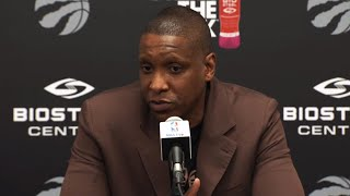 Toronto Raptors general manager Masai Ujiri comments on the acquisition of C.J. Miles.
