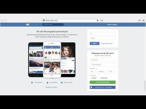 VK - Tworzenie konta na VKontakte