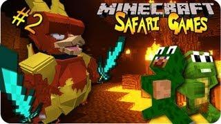 PIXELMON SAFARI GAMES pt 1 w/ YouTubers! TEAMING UP! (Pixelmon Mini Game Marathon day#4)
