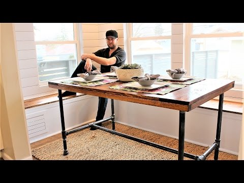 The Industrial Farm Table - Easy DIY Project