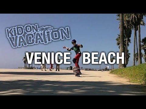 Kid On Vacation Venice Beach Skatepark California Trip Connor search for a Skateboard SK8