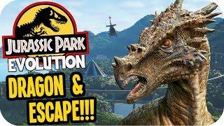 Jurassic World Evolution - Dragon, ESCAPE & Isla Muerta! - Jurassic World Evolution Gameplay