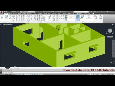 AutoCAD 3D House Modeling Tutorial Beginner Basic - 1