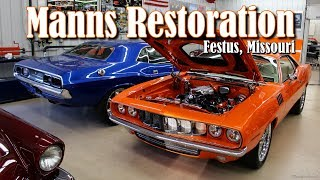 This video showcases some of the recent builds by Manns Restoration, in Festus, MO.  They continue to turn out award winning restorations, year-after-year.  Whether you want to bring a treasured family heirloom back to life, or build a wild custom show  car...Manns Restoration can handle it all.  This family-owned shop has brought home countless awards from concours shows around the country.  They have assembled a truly amazing group of craftsmen, that are as dedicated as any that you'll find.  We hope you like the video and we sincerely appreciate you watching!For more about current, or past, builds, check out their website at:  http://mannsrestoration.com/Restoration/Default.aspx