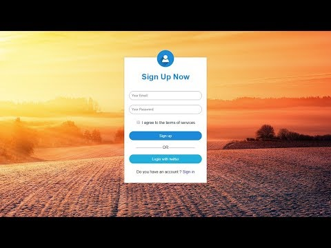 How To Make Signup Form Using HTML And CSS | Create Sign Up Form In HTML CSS