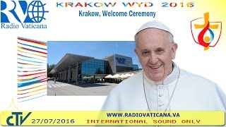 Balice Poland  city images : Pope Francis in Poland: Welcome Ceremony