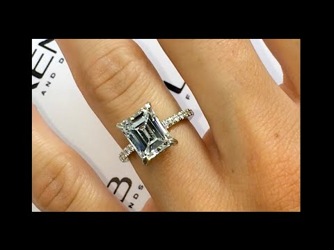 3 carat Emerald Cut Diamond Engagement Ring