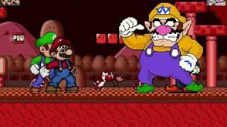 M.U.G.E.N. Mario and Luigi vs. Wario and Waluigi