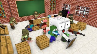 Video Monster School : ZOMBIE APOCALYPSE ATTACK - Minecraft Animation MP3, 3GP, MP4, WEBM, AVI, FLV Mei 2019