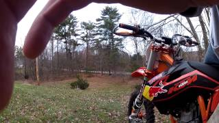 9. KTM 350 sxf 2013 First ride back yard