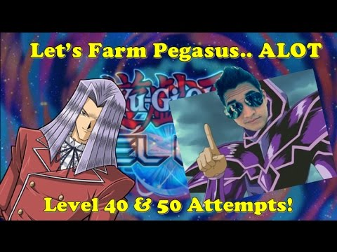 Yu-Gi-Oh Duel Links - April 21st Twitch VOD - How To *MOSTLY* Farm Pegasus Level 40 & 50!