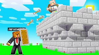 Using The Most Powerful USELESS Weapons To Defend My Castle In Minecraft