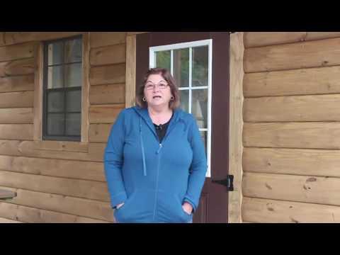 14x32 Log Garage Gallery Video