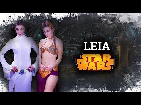 Princess Leia: Look, Hair & Makeup    Disfraz Leia Esclava y Princesa   Leia Frisur & Kostüm