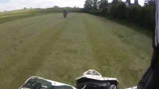 4. Husqvarna TE449 2011 enduro high speed chase and fail