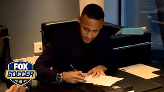 Neymar signs new contract at Barcelona by FOX Soccer