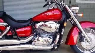 8. 2015 Honda Shadow Aero Walk Around Video - VT750C Candy Red - Cruiser / Motorcycle