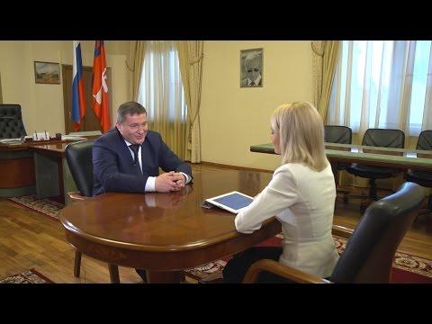Интервью губернатора Волгоградской области Андрея Бочарова 23 марта 2017 г.