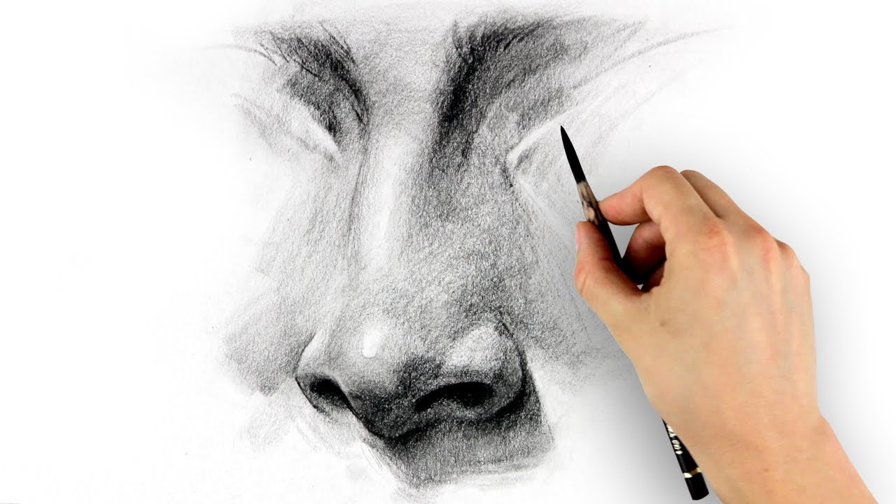 nose drawing tutorial