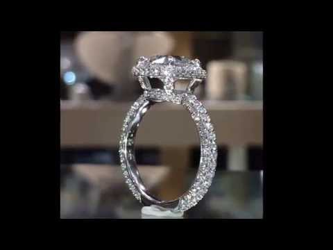 3.00 ct Cushion cut Diamond Limited Edition Halo Engagement Ring