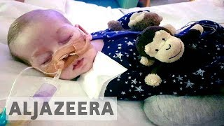 Legal battle to send terminally ill UK baby to US for treatment endsThe parents of a terminally ill British baby have ended their legal battle to take him to the United States for experimental treatment. Chris Gard and Connie Yates said too much time had passed in the five-month legal battle for Charlie's treatment to be effective. Al Jazeera's Laurence Lee reports from London.- Subscribe to our channel: http://aje.io/AJSubscribe- Follow us on Twitter: https://twitter.com/AJEnglish- Find us on Facebook: https://www.facebook.com/aljazeera- Check our website: http://www.aljazeera.com/