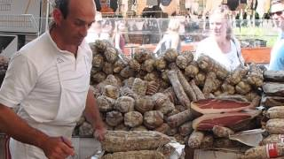 Salo Italy  city photo : Local Food Market Salò, Garda, Italy - Selling Local Cured Meat