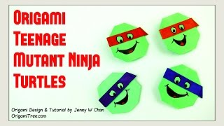 Origami Turtle - Teenage Mutant Ninja Turtles TNMT - Paper Crafts Kids - YouTube