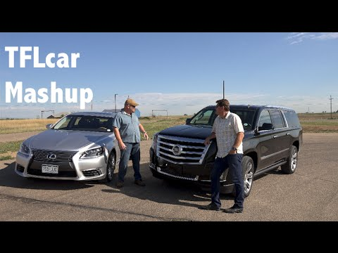 2015 Cadillac Escalade vs Lexus LS460 Mashup Review: Beauty vs Brawn