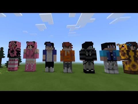 Minecraft |Aphmau& Aaron |Kawaii chan |Ein|Noi|zane |Pierce |+Macncheese.