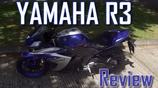 10. 2016 Yamaha R3 Review, Ride and Walkaround (2015/16 YZF-R3) - Mini Superbike motorcycle?