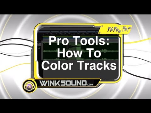 Pro Tools: How To Color Tracks | WinkSound