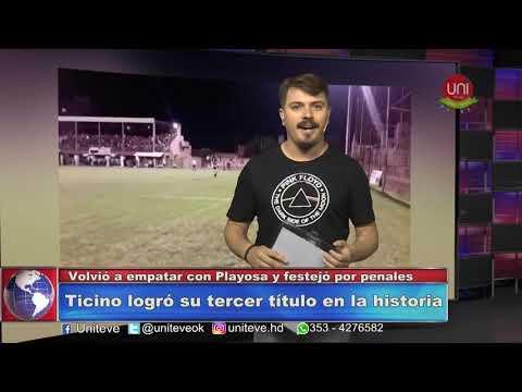 TICINO CAMPEON DEL FÚTBOL LOCAL