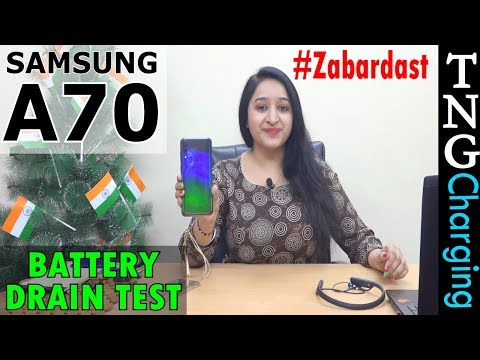 Samsung Galaxy A70 - Battery Drain Test(1 Day Heavy Use)