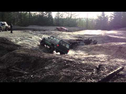 4x4 at Clay Pits, MT Prevost, Vancouver Island, BC