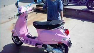 1. Pink 2010 Vespa LX 150
